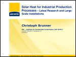 Solar Heat for Industrial Production Processes