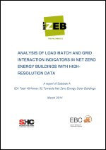 Analysis Of Load Match and Grid Interaction Indicators in NZEB with High-Resolution Data