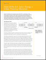 Task 51: State-of-the-Ar t: Solar Energy in Urban Planning Education